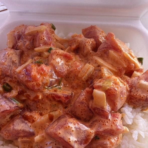 Ahi poke combo bowl @ Ono Seafood