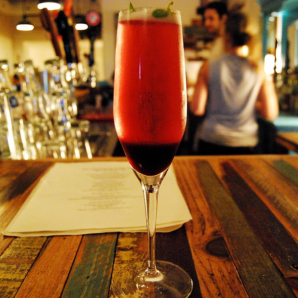 Blueberry fizz cocktail @ Hintonburg Public House