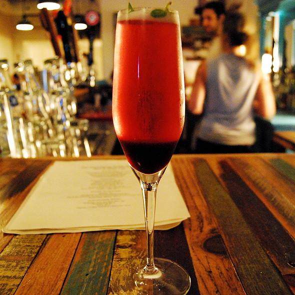 Blueberry fizz cocktail @ Hintonburg Public House