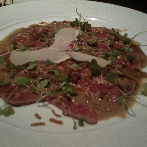Filet Mignon Carpaccio - Yamashiro, Hollywood, CA