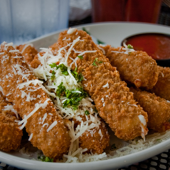Fried Mozzarella Sticks @ Ram Restaurant & Brewery