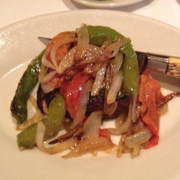 Filet With Hot And Sweet Peppers And Onions - Trattoria Romana, Boca Raton, FL