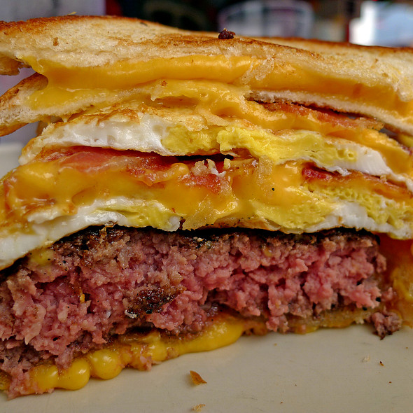 Double Coronary Bypass Burger @ Vortex Bar & Grill