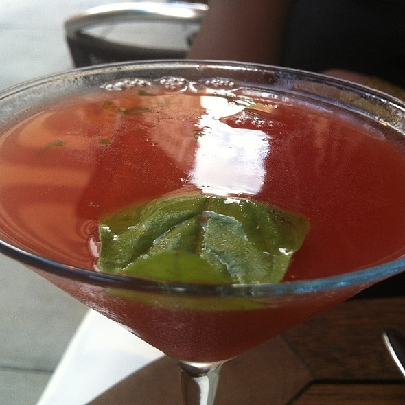 Strawberry Basil Martini @ Serafina