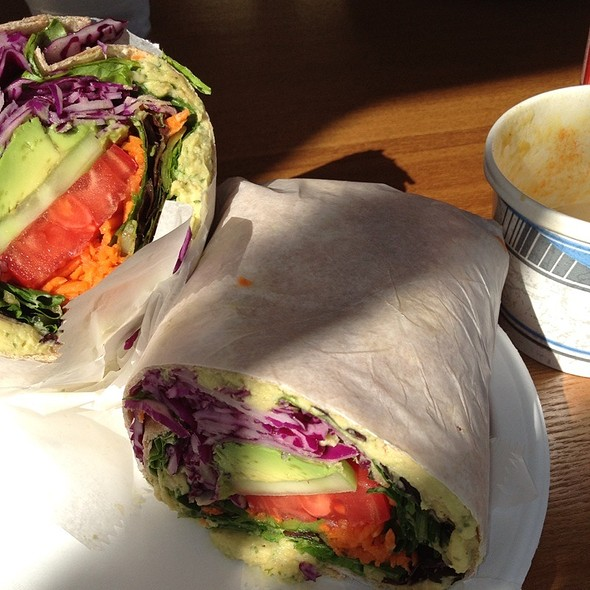 Hummus Avacado Veggie Wrap @ Wildflower Earthly Vegan Fare