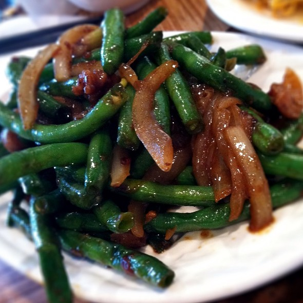 Dry Sauteed Green Beans w/ Pork @ Just Koi