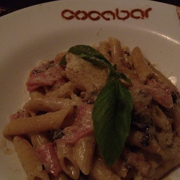 Penne With Ham And White Mushrooms @ кафе-бар COCABAR