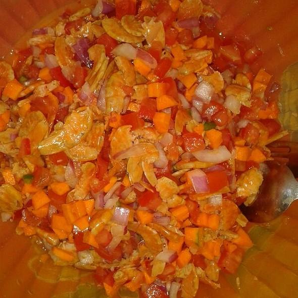 Ceviche De Camarones Secos @ Mi Casa En Angostura
