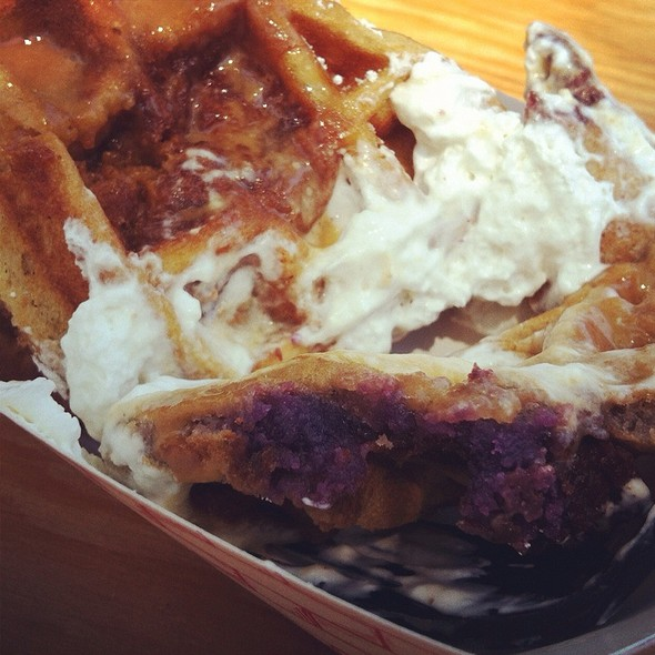 Ube & Sweet Potato Waffles From Pinx Catering @ SF Street Food Festival 2012