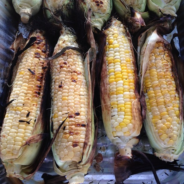 Grilled Bi Colored Sweet Corn @ The Villamar Mansion