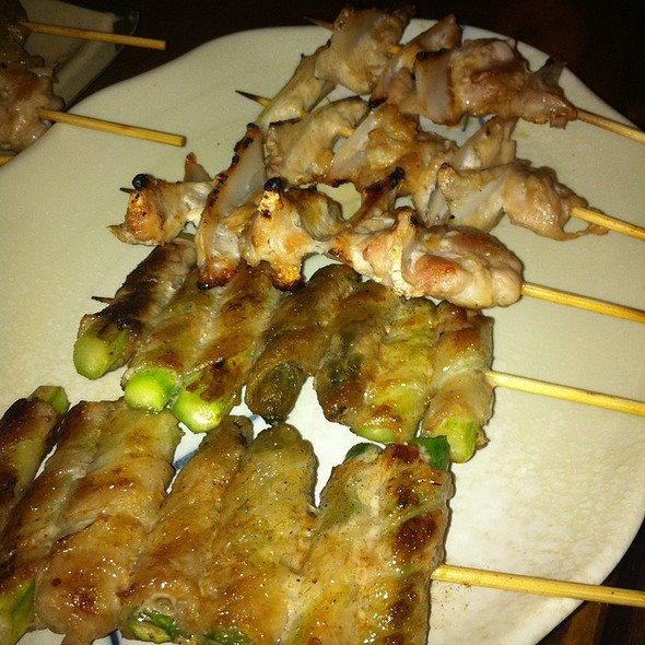 Bacon Wrapped Asparagus @ Honda-Ya