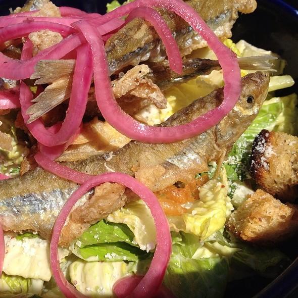 Caesar Salad With Cornmeal Crusted Smelt @ Fish