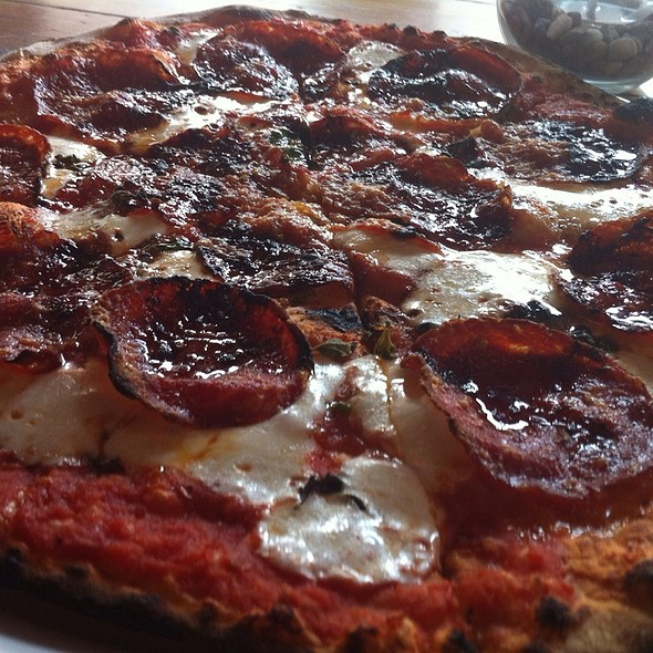 Spicy Sopressata Pizza @ Nomad Pizza