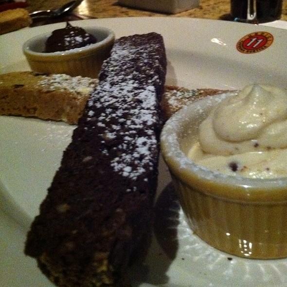 Biscotti With Cannoli Cream And Chocolate Sauce - Undici Rumson New Jersey, Rumson, NJ