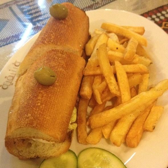 Grilled Shrimps Sandwich & Fries  @ Phoenician Cafe