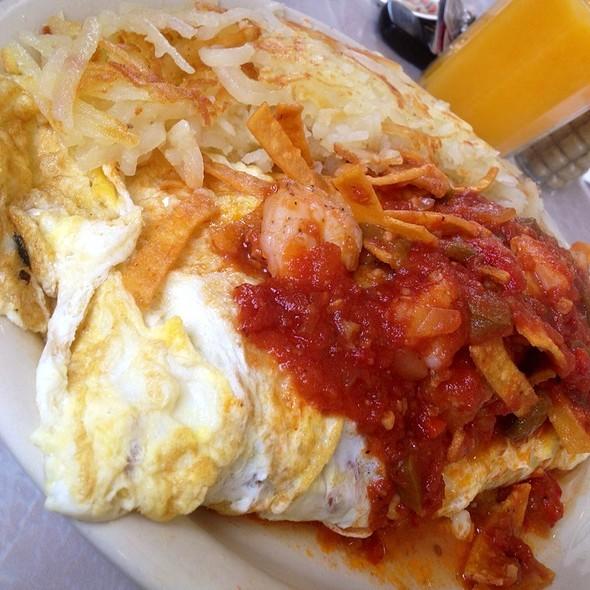 Festive Latin Shrimp Omelette
