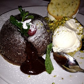 Chocolate Lava Cake - Fleming's Steakhouse - Coral Gables
