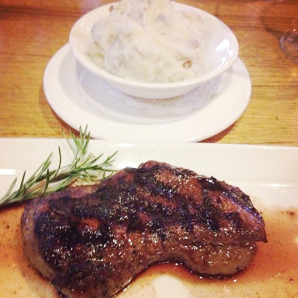 Petite Top Sirloin & Mashed Potatoes - Grub Steak Restaurant, Park City, UT