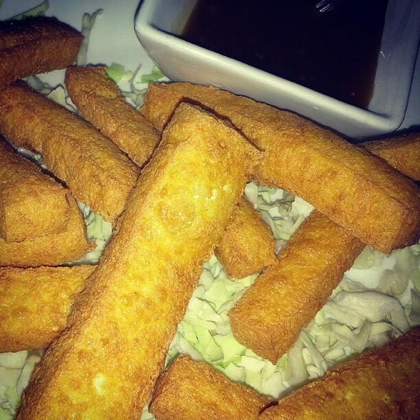 Chinese tofu French fries with sweet and sour dipping sauce