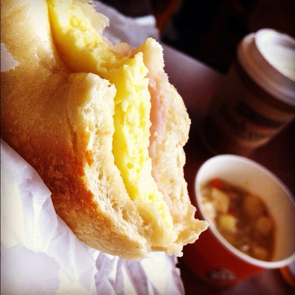 Egg And Cheese Bagel @ Brueggar's Bagel Bakery