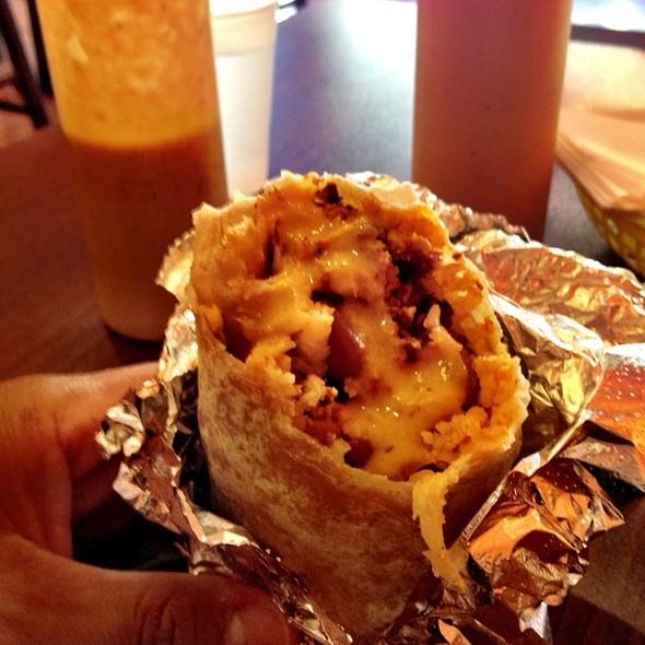 Breakfast (Chorizo) Burrito @ La Victoria Taqueria