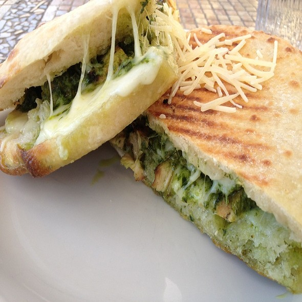 Grilled Chicken & Pesto Sandwich @ Campania Pizza