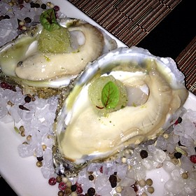 Cape May Salt Oyster, Kaffir Lime Granita