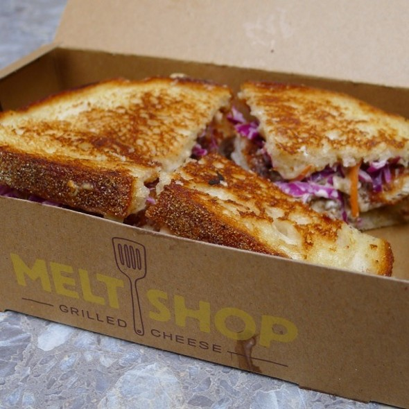 Buttermilk-Fried Chicken Grilled Cheese @ Melt Shop Nyc