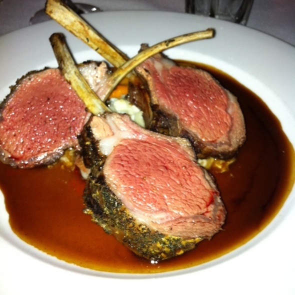 Rack of Colorado Lamb @ Cache Cache Restaurant