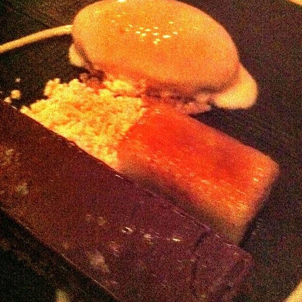 Chrispy Chocolate Goma Bar With Peanuts And Banana Ice Cream - Zuma Japanese Restaurant - Miami, Miami, FL