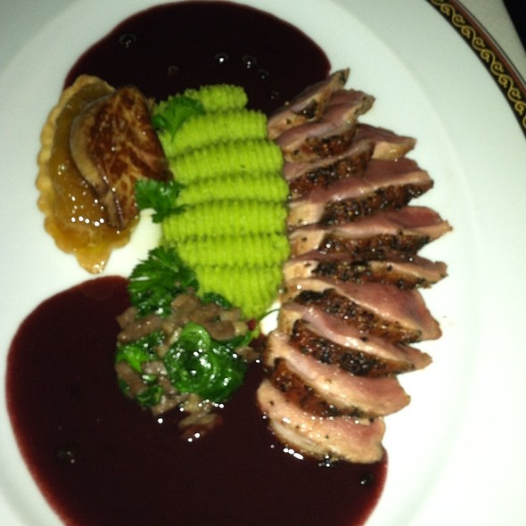 Duck Breast, Roast Pear, Ricotta and Onion Tart @ Alize At the Palms Casino