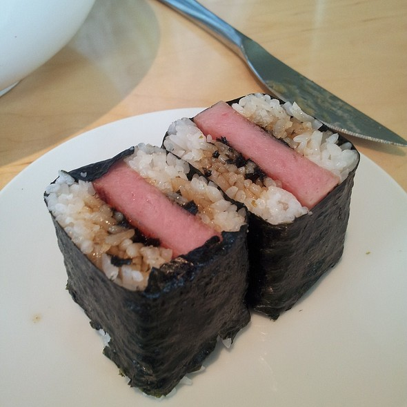 spam musubi @ Ma'ono Fried Chicken & Whisky