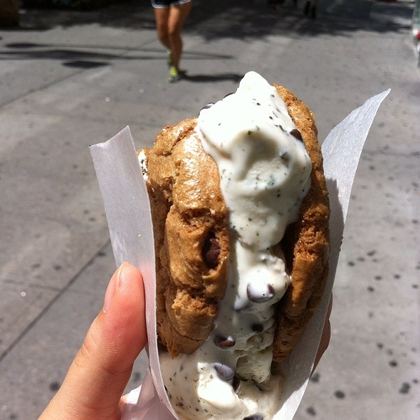 Smores Cookie And Mint Ice Cream  @ Coolhaus Ice Cream Truck