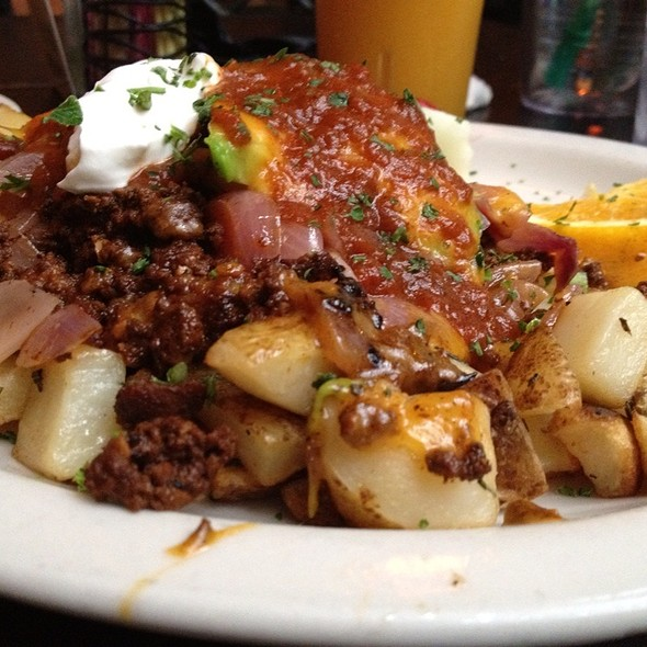 Mexican Casarole With Chorizo And Scrambled Eggs @ Bread Winners Cafe and Bakery
