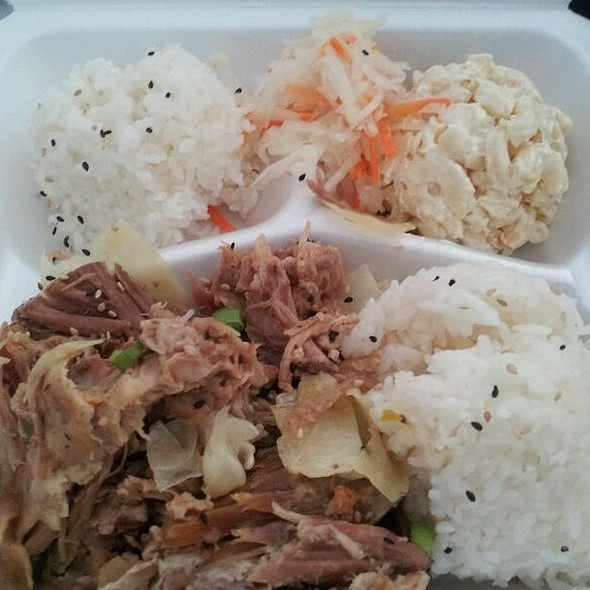Kalua Pork Plate Lunch @ Hula Girl Truck