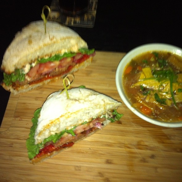 Chariza Sausage Sandwich And Chicken Tortilla Soup At Lamplighter_Pub @ Lamplighter Pub