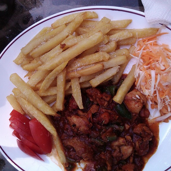 Stewed Chicken with Fries @ Plaza Beach Hotel