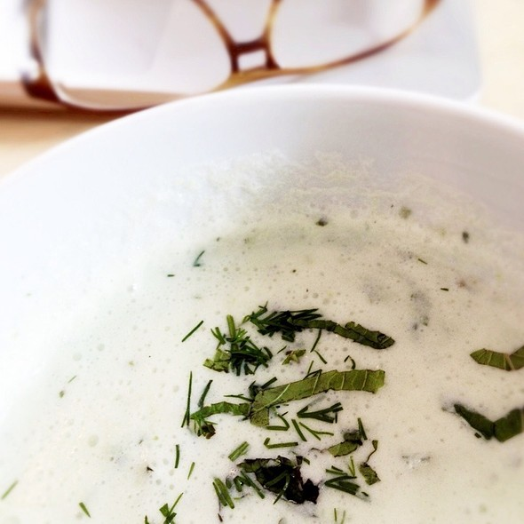 Iced Cucumber Soup @ Giro Coffee Bar