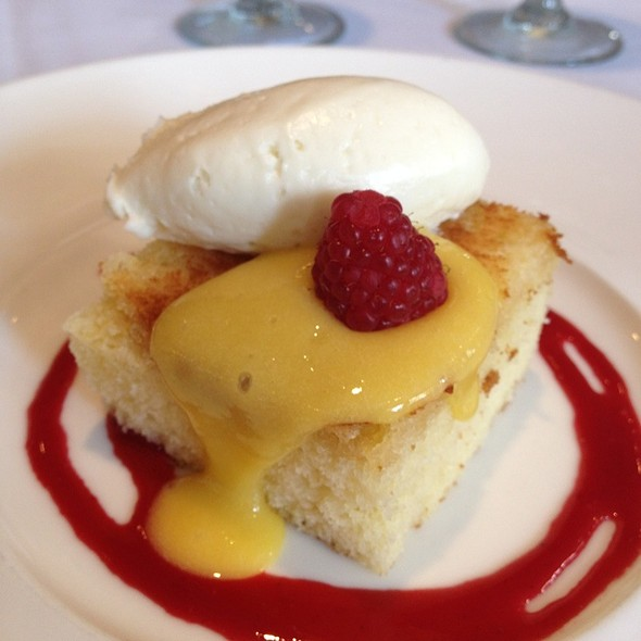 Brown Butter Lemon Cake - Las Canarias - Omni La Mansion, San Antonio, TX
