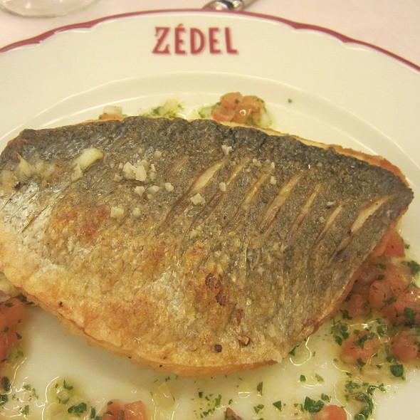 Pan fried fillet of sea bream @ Brasserie Zedel