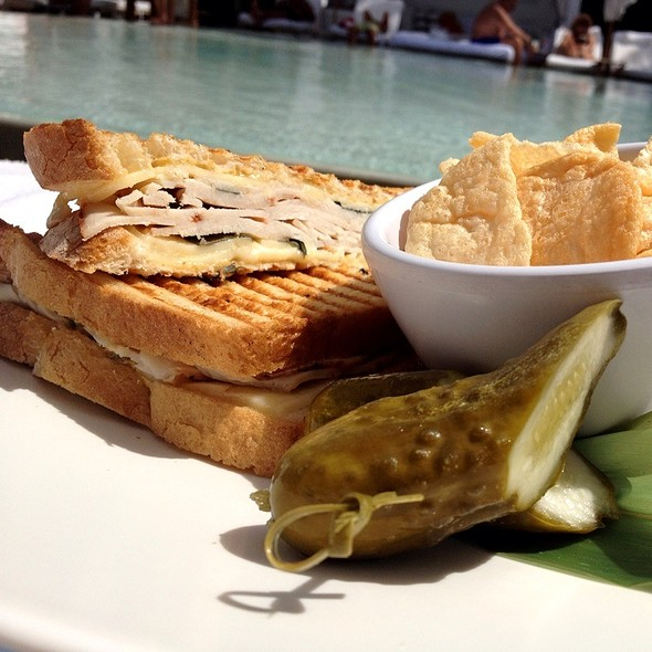 Turkey Panini @ Rose Bar & Pool Bar at Delano