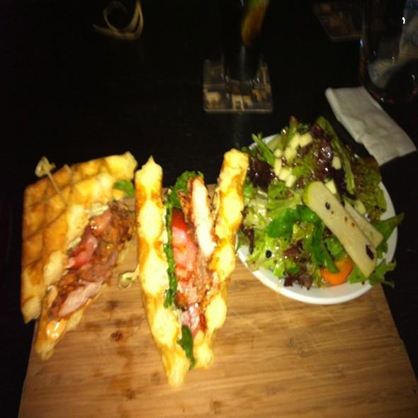 Chicken & Waffle Sandwich @ Lamplighter Pub