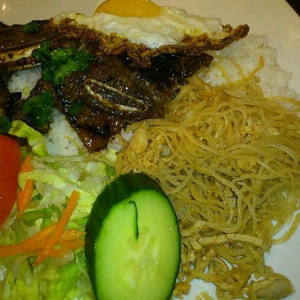 Beef Ribs, Shredded Pork, And Egg On Rice @ Pho Tan Vietnamese Restaurant