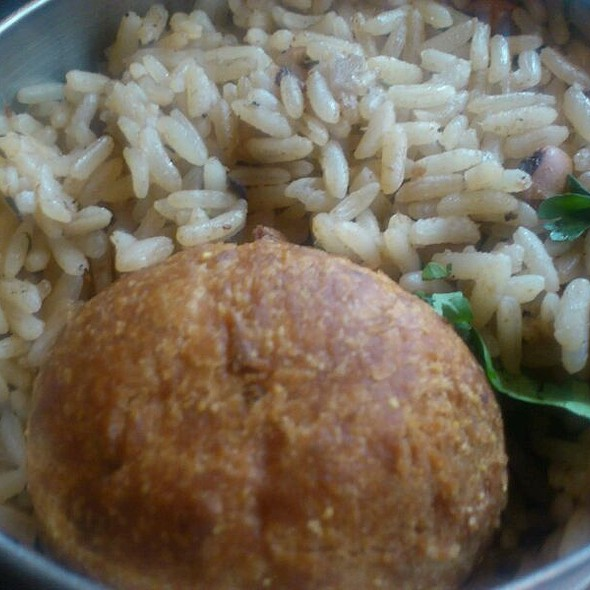 Coconut Dumpling With Rice And Beans @ Calabash Bistro