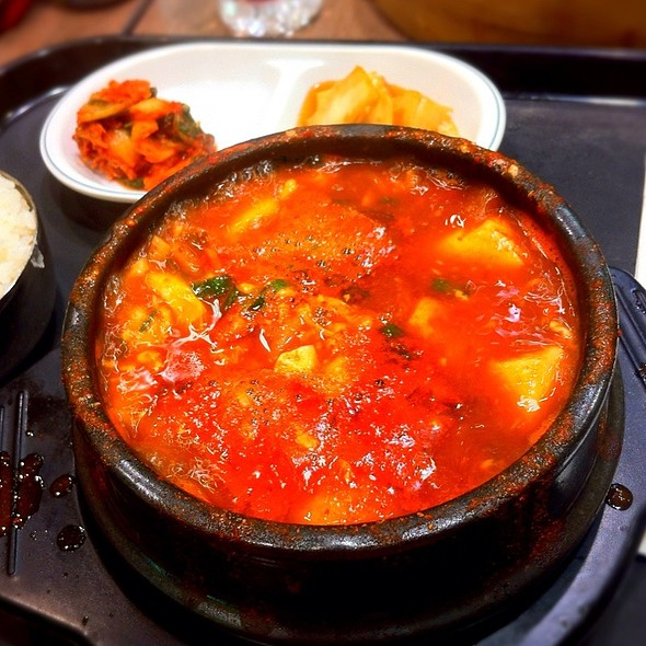 Soft Tofu Soup With Beef & Seafood @ Sobahn Express