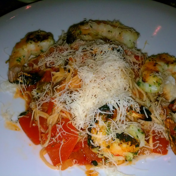 Capellini Provencal with Grilled Prawns - Scott's Seafood on the River, Sacramento, CA