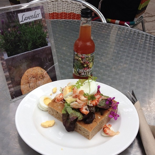 Crayfish Salad On Focaccia @ Peter's Yard Edinburgh, Scotland UK
