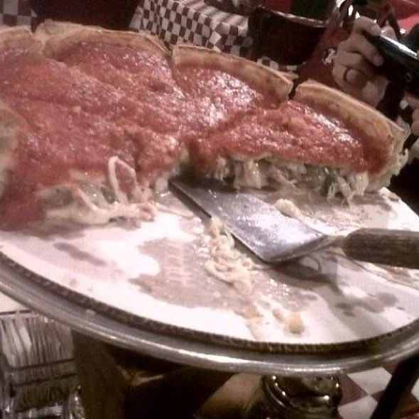 Deep Dish Pizza With Sausage And Pepperoni @ Giordano's