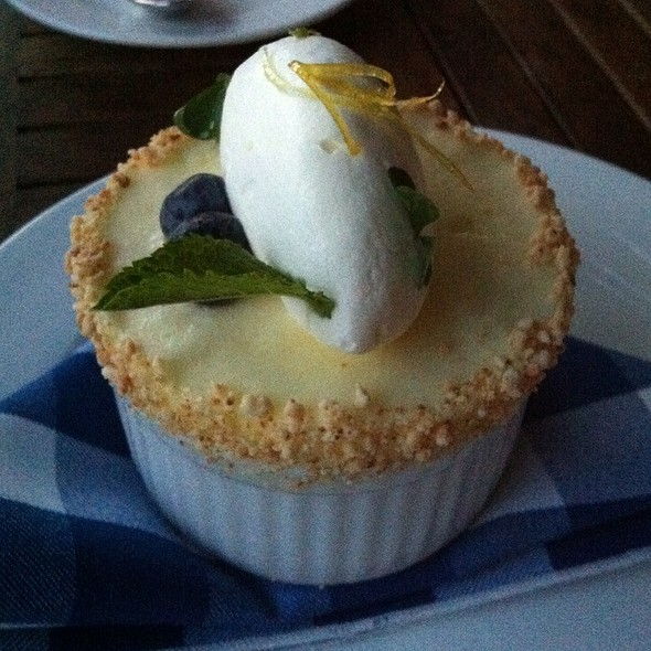 Chilled Lemon & Blueberry Soufflé, Soft Whipped Cream - Enoteca Sociale, Toronto, ON