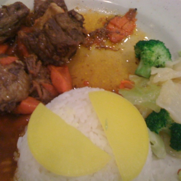 Stewed Ox Tail Over Rice @ Mama Liang's